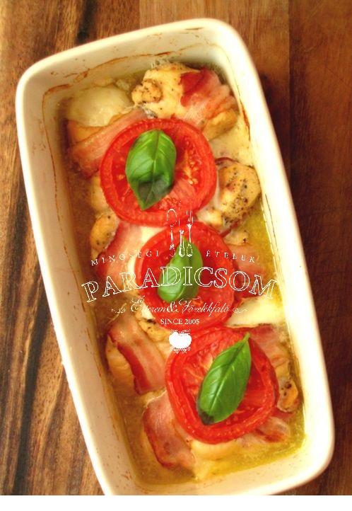 Itáliai csőben sült csirkemell