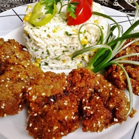 Paradicsom Étterem Zalaegerszeg Menü kép - Rántott csirkemáj