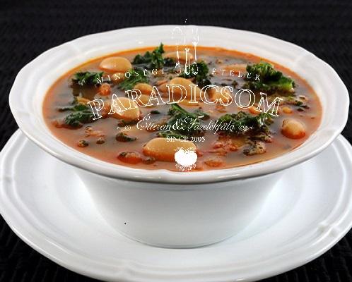 Zöldséges fehérbab leves
