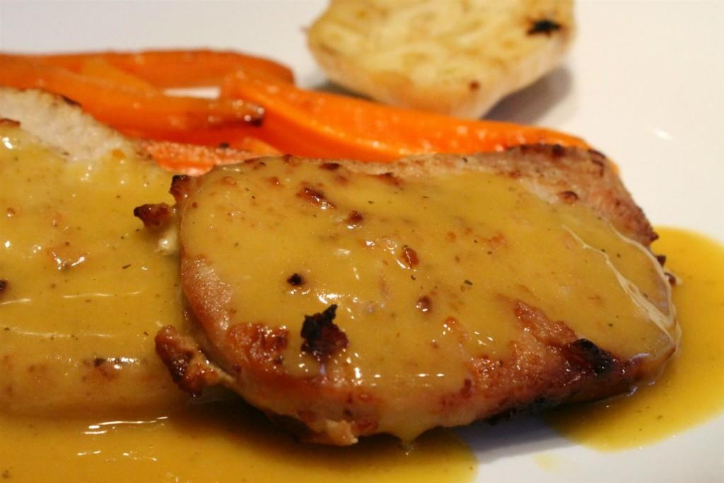 Mustáros sertészelet