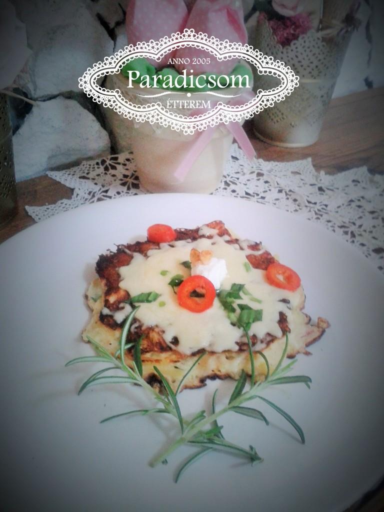 Paradicsom Étterem Zalaegerszeg Menü kép - Sonkás sajtos prószás búbos csirkemell
