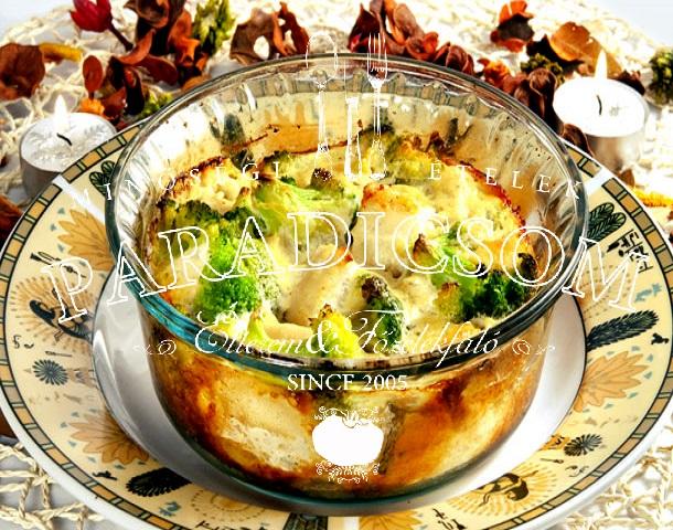 Csirkemelles zöldséges rakottas sajtkéreggel sütve
